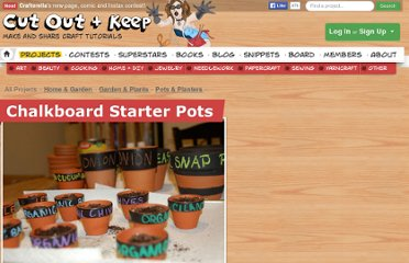 http://www.cutoutandkeep.net/projects/chalkboard_starter_pots