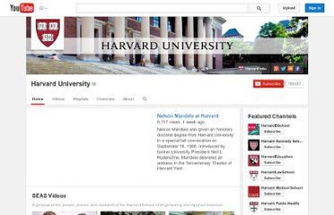 http://www.youtube.com/user/Harvard