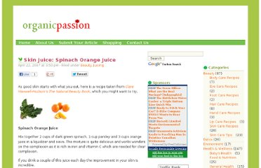 http://organicpassion.info/skin-juice-spinach-orange-juice/