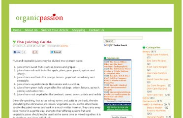 http://organicpassion.info/the-juicing-guide/