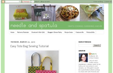 http://www.needleandspatula.com/2011/03/easy-tote-bag-sewing-tutorial.html