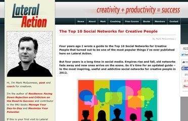 http://lateralaction.com/articles/social-networks-for-creatives/