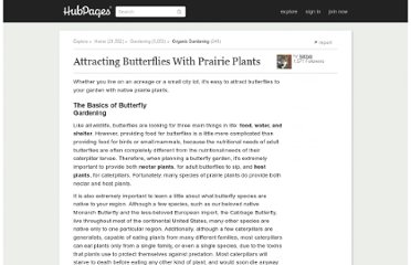 http://kerryg.hubpages.com/hub/Attracting-Butterflies-With-Prairie-Plants