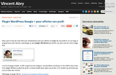 http://www.vincentabry.com/plugin-wordpress-google-pour-afficher-son-profil-12532