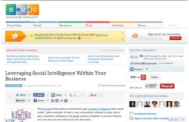 http://www.business2community.com/social-media/leveraging-social-intelligence-within-your-business-045473