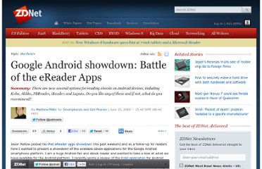 http://www.zdnet.com/blog/cell-phones/google-android-showdown-battle-of-the-ereader-apps/4090