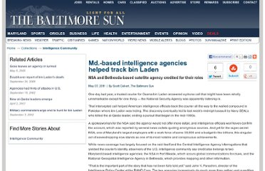 http://articles.baltimoresun.com/2011-05-07/news/bs-md-nsa-bin-laden-20110507_1_bin-terrorist-leader-intelligence-agencies