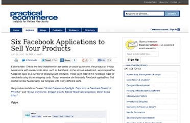 http://www.practicalecommerce.com/articles/2095-Six-Facebook-Applications-to-Sell-Your-Products