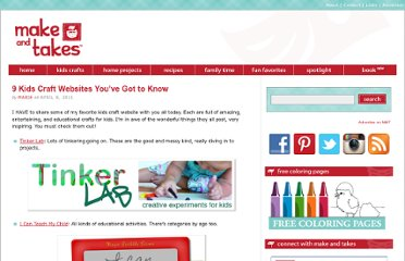 http://www.makeandtakes.com/9-kids-craft-websites-youve-got-to-know