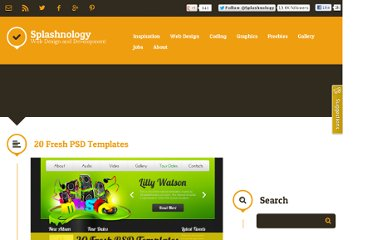 http://www.splashnology.com/article/20-fresh-psd-templates/220/