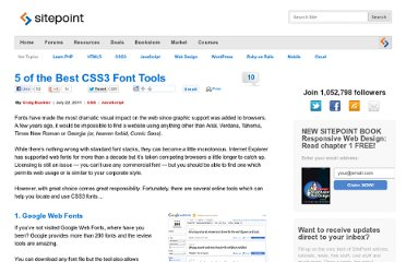 http://www.sitepoint.com/5-of-the-best-css3-font-tools/