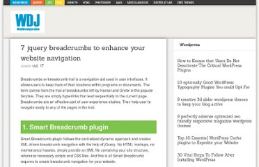 http://www.webdeveloperjuice.com/2011/07/17/7-jquery-breadcrumbs-to-enhance-your-website-navigation/