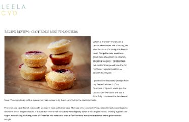 http://leelacyd.blogspot.com/2011/01/recipe-review-clotildes-mini-financiers.html
