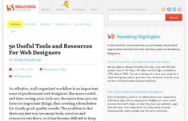 http://coding.smashingmagazine.com/2010/07/26/50-useful-tools-and-resources-for-web-designers/