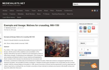 http://www.medievalists.net/2011/07/25/exempla-and-lineage-motives-for-crusading-900-1150/