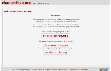 http://chanarchive.org/welcome