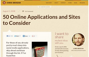 http://www.chrisbrogan.com/50-online-applications-and-sites-to-consider/