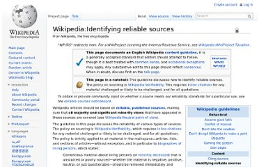 http://en.wikipedia.org/wiki/Wikipedia:Identifying_reliable_sources
