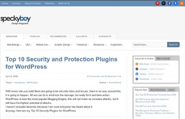 http://speckyboy.com/2008/04/08/top-10-security-and-protection-plugins-for-wordpress/