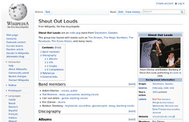 http://en.wikipedia.org/wiki/Shout_Out_Louds