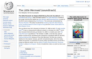 http://en.wikipedia.org/wiki/The_Little_Mermaid_(soundtrack)