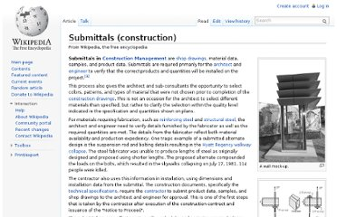http://en.wikipedia.org/wiki/Submittals_(construction)