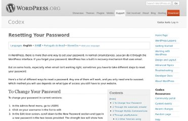 http://codex.wordpress.org/Resetting_Your_Password