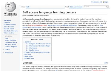 http://en.wikipedia.org/wiki/Self_access_language_learning_centers
