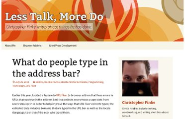 http://www.chrisfinke.com/2011/07/25/what-do-people-type-in-the-address-bar/