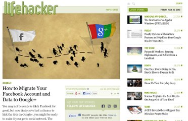 http://lifehacker.com/5824769/how-to-migrate-all-your-facebook-data-to-google%252B