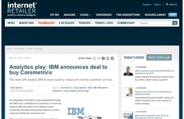 http://www.internetretailer.com/2010/06/15/analytics-play-ibm-announces-deal-buy-coremetrics