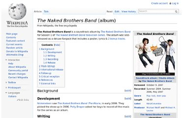 http://en.wikipedia.org/wiki/The_Naked_Brothers_Band_(album)