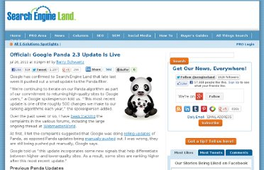 http://searchengineland.com/official-google-panda-2-3-update-is-live-87230