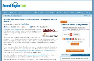 http://searchengineland.com/blekko-partners-with-stack-overflow-64795