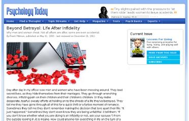 http://www.psychologytoday.com/articles/200910/beyond-betrayal-life-after-infidelity