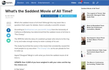 http://abcnews.go.com/Entertainment/saddest-movie-time/story?id=14164889