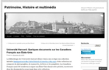 http://tolkien2008.wordpress.com/2009/12/26/quelques-documents-sur-les-canadiens-francais-aux-etats-unis-universite-harvard/