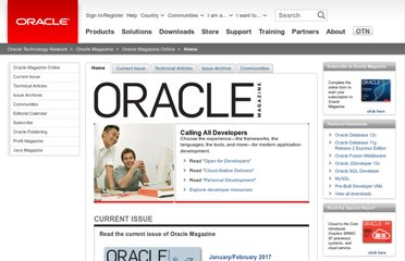 http://www.oracle.com/technetwork/oramag/magazine/home/index.html