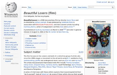 http://en.wikipedia.org/wiki/Beautiful_Losers_(film)