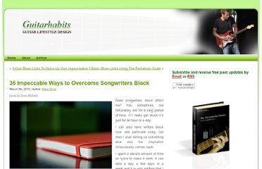 http://www.guitarhabits.com/33-impeccable-ways-to-overcome-songwriters-block/