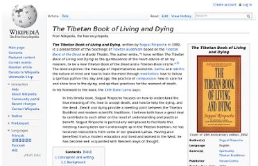 http://en.wikipedia.org/wiki/The_Tibetan_Book_of_Living_and_Dying