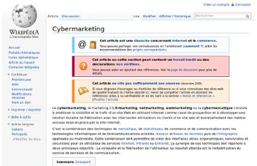 http://fr.wikipedia.org/wiki/Cybermarketing