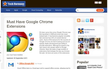 http://www.techhormone.com/must-have-google-chrome-extensions/