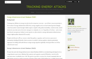 http://trackingenergyattacks.com/pages/energy-infrastructure-attack-database-develop