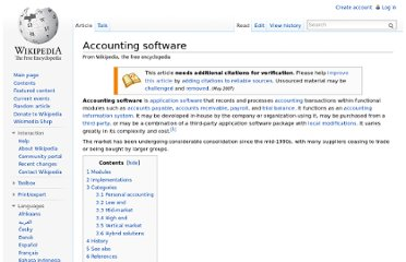 http://en.wikipedia.org/wiki/Accounting_software