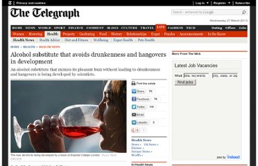 http://www.telegraph.co.uk/health/healthnews/6874884/Alcohol-substitute-that-avoids-drunkenness-and-hangovers-in-development.html
