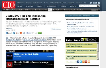 http://www.cio.com/article/593273/BlackBerry_Tips_and_Tricks_App_Management_Best_Practices