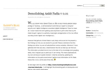 http://itsallpartoftheplan.wordpress.com/2009/09/26/demolishing-ankit-fadia-v-0-01/