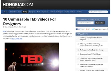 http://www.hongkiat.com/blog/ted-video-for-web-designers/