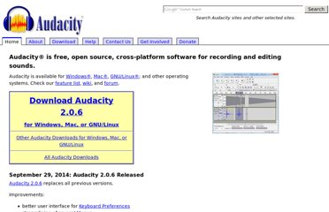 http://audacity.sourceforge.net/index.php?lang=en